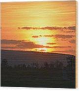 Gettysburg Sunset Wood Print