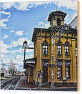 Gettysburg Train Station Wood Print