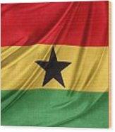 Ghana Flag Wood Print
