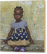 Ghanaian Child Wood Print