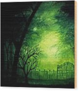 Ghastly Gate Wood Print by Erin Scott
