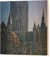 Ghent Skyline Wood Print