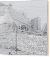 Ghost Barn Wood Print