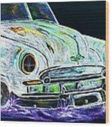 Ghost Car Wood Print