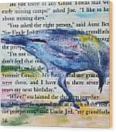 Ghost Crow Wood Print