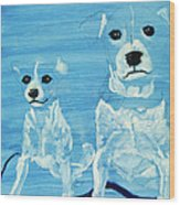 Ghost Dogs Wood Print