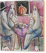 Ghost Gathering Wood Print