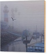 Ghost Harbor Wood Print