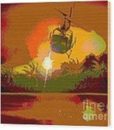 Ghost Huey Apocalypse  Wood Print