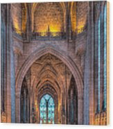 Ghost In The Cathedral Wood Print by Adrian Evans