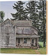 Ghost Manor Wood Print by Pamela Baker