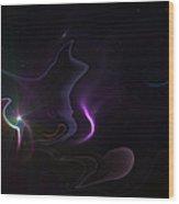 Ghost Nebula Wood Print by Ricky Haug