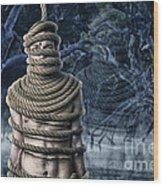 Ghost Of Doom Wood Print