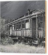 Ghost Passenger Train Coach Wood Print