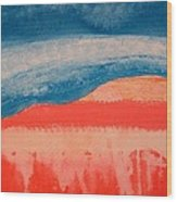 Ghost Ranch Original Painting Wood Print