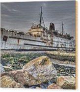Ghost Ship Ll Wood Print