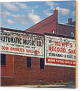 Ghost Sign. Clarksville Tennessee  Wood Print