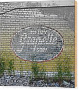 Ghost Sign Wood Print