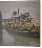 Ghost Steamer Wood Print