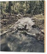 Ghost Stream Wood Print