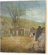 Ghost Town #1 Wood Print by Betty LaRue