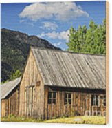 Ghost Town Barn And Stable Wood Print
