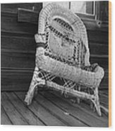 Ghost Town Chair Wood Print