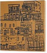 Ghost Town Wood Print