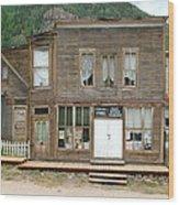 Ghost Town Of Saint Elmo Wood Print