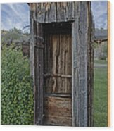 Ghost Town Outhouse - Montana Wood Print
