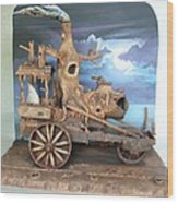 Ghost Tractor Wood Print
