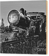 Ghost Train In Paranapiacaba - Locobreque Wood Print