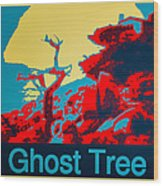 Ghost Tree Poster Wood Print