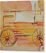 Ghost Wagon Wood Print