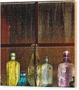 Ghostly Bottles Wood Print