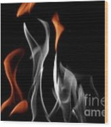Ghostly Flames Wood Print