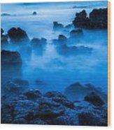 Ghostly Ocean 1 Wood Print