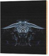 Ghostly Owl Wood Print