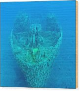 Ghostly Ship Wreck Wood Print