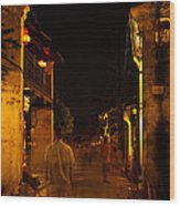 Ghostly Street Wood Print