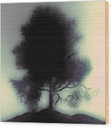 Ghostly Tree Wood Print