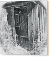 Ghosts Of The Outhouse Rocky Mountains Wood Print