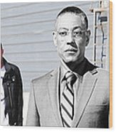 Giancarlo Esposito as Gustavo Fring and Aaron Paul as Jesse Pinkman @ TV serie  Breaking Bad Wood Print
