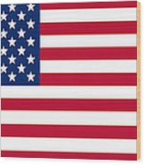 Giant American Flag Wood Print by Ron Hedges
