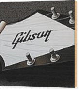 Giant Gibson Guitar Wood Print