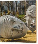 Giant Heads Wood Print
