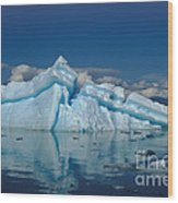 Giant Ice Floes Wood Print