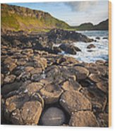 Giant's Causeway Circle Of Stones Wood Print