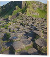 Giant's Causeway Green Peak Wood Print