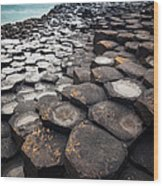 Giant's Causeway Hexagons Wood Print